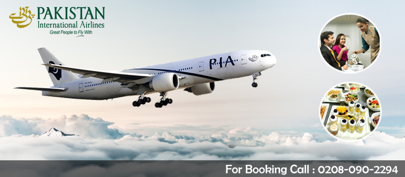 Book Pakistan with Pakistan International Airlines PIA from Manchester, Lonodn, United Kingdom