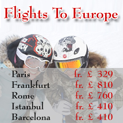 Online Flight Booking, Flights to Europe From London.
